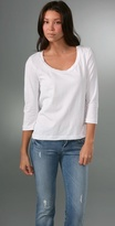 Relaxed Scoop Top with 3/4 Sleeves