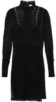 Zimmermann Lace-trimmed Pleated Silk-chiffon Mini Dress