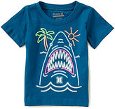 Hurley Baby Boys 12-24 Months Neon Shark Short-Sleeve Graphic Tee