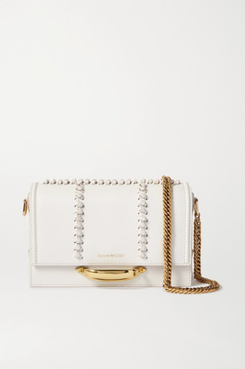 Alexander McQueen The Story Leather Shoulder Bag - Off-white