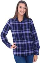 Alexander Del Rossa Del Rossa Women's Flannel Shirt, Button-Down Cotton Boyfriend Top, (A0710Q18LG)