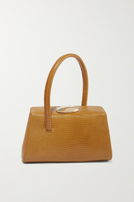 Little Liffner Baby Boss Lizard-effect Leather Tote - Light brown