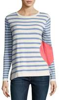 Lisa Todd Striped Dot Long-Sleeve Sweater, Plus Size