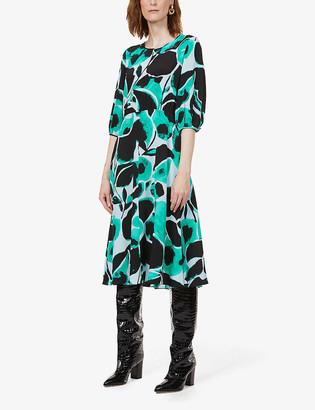 Diane von Furstenberg Bliss graphic-print silk-crepe midi dress