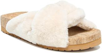 Vince Goren Crisscross Shearling Slide Sandals