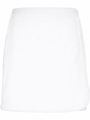 Terry cotton-terry wrap skirt