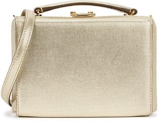 Mark Cross Grace mini gold leather box bag