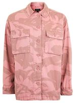 Topshop Pink camouflage shacket