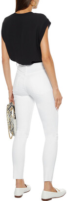 Frame Le High Skinny Cropped Frayed Mid-rise Skinny Jeans