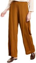 Vince Crinkle Pull-On Silk-Blend Pant