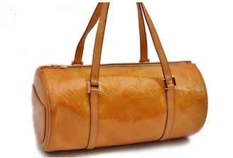Louis Vuitton Papillon Yellow Patent leather Handbags