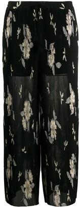 Etro Camelia floral print trousers