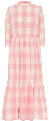 Woolrich Checked cotton shirt dress
