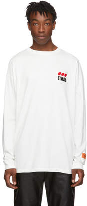 Heron Preston White Style Dots Long Sleeve T-Shirt