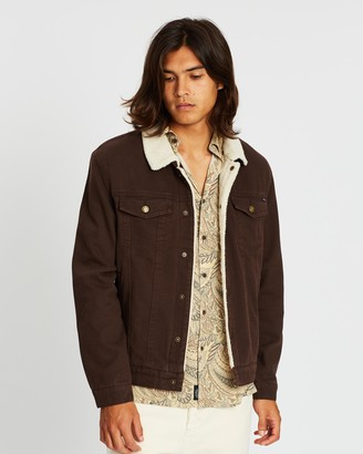 Thrills Sherpa Wanderer Denim Jacket