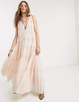 Free People lily of the valley tiered midi dress-Pink