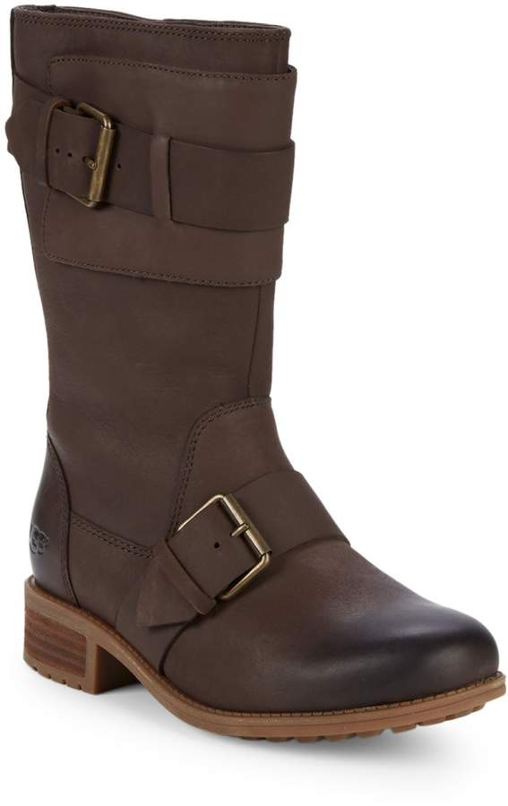10f14eb31dd Chancy Water-Resistant Leather Mid-Calf Boots