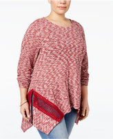 Style&Co. Style & Co. Plus Size Space-Dyed Knit Top, Only at Macy's