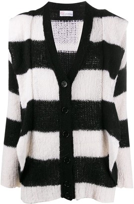 RED Valentino Striped Maxi Cardigan