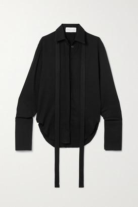 ALEKSANDRE AKHALKATSISHVILI Stretch-twill Shirt - Black