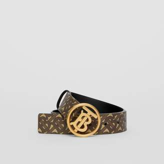 Burberry Monogram Motif Monogram Print E-canvas Belt