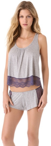 Only Hearts Club Venice Cropped Keyhole Tank