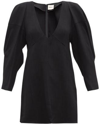 KHAITE Jenny Blouson-sleeve Canvas Top - Womens - Black