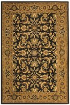 Safavieh Heritage Collection HG586A Handmade Cola and Gold Hand-Spun Wool Area Rug, 3-Feet by 5-Feet