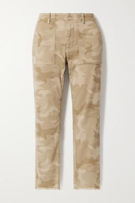 Nili Lotan Jenna Cropped Camouflage-print Stretch-cotton Twill Slim-leg Pants - Beige