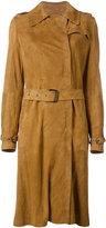Giorgio Brato belted coat - women - Leather - 44