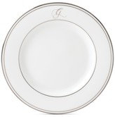Lenox Federal Platinum Monogram Script Salad Plate