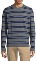 Lacoste Striped Cotton Sweatshirt