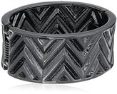 "GUESS Basic"" Hematite Chevron Stretch Bracelet"
