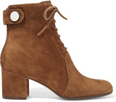 Gianvito Rossi Finlay Suede Ankle Boots - Brown