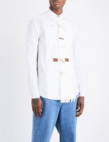 Loewe Toggle-detailed relaxed-fit cotton and linen shirt