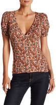 Free People Hollywood Ruched Sleeve Blouse