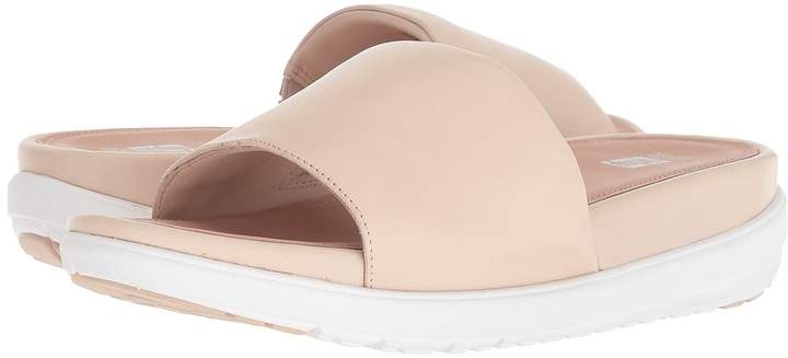 FitFlop Loosh Luxetm Leather Slide Sandals Women's Shoes