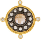 Freida Rothman 14K Gold & Rhodium Plated Sterling Silver Floral CZ Compass Ring
