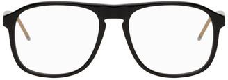 Gucci Black Acetate Aviator Glasses