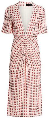 Proenza Schouler Plaid Jacquard Midi Dress