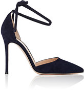 Gianvito Rossi Women's Lace-Up D'Orsay Pumps-NAVY