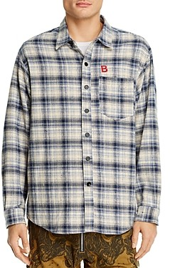 BILLY Los Angeles Cotton Flannel Plaid Regular Fit Button-Down Shirt