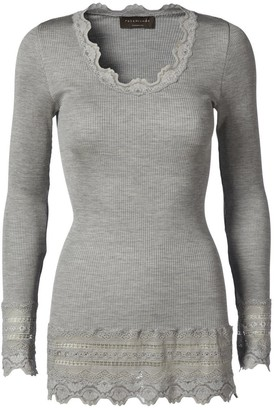 Rosemunde 5209 Top In Light Grey Melange - L