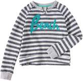 Bench Girls Stripey Logo Sweatshirt