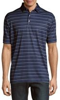 Callaway Striped Button-Front Tee