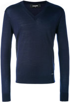 DSQUARED2 V-neck sweater - men - Wool - S