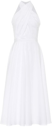 Alexander McQueen Bridal Halterneck cotton midi dress
