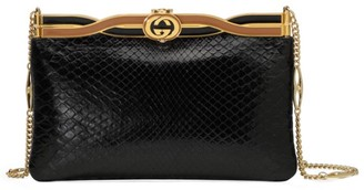 Gucci Broadway Python Evening Bag With Twisted Enamel