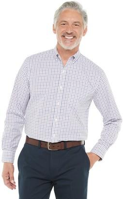 Croft & Barrow Men's Plaid Easy-Care Poplin Woven Button-Down Shirt