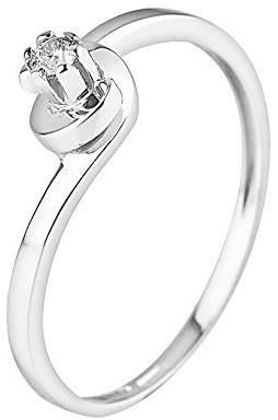 & You Women Engagement Plain Band Ring - AMZ-9BG DIAS-004/52